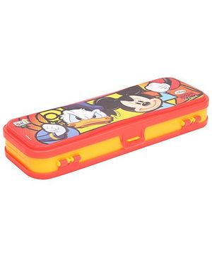 Disney Mickey Mouse & Friends Pencil Box - Yellow And Red