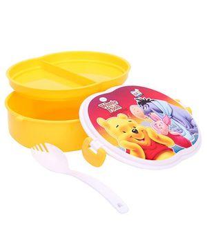Disney Winnie The Pooh Pickwick Lunch Box - Dark Yellow & White