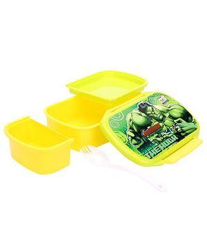 Marvel Avengers Hulk Print Lunch Box - Yellow