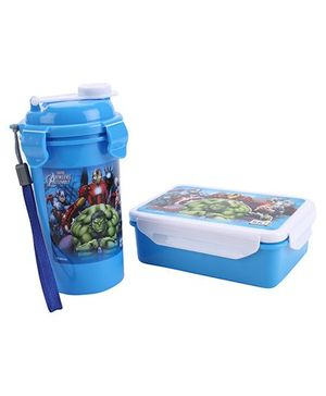 Avengers Lunch Box With Water Bottle - Blue