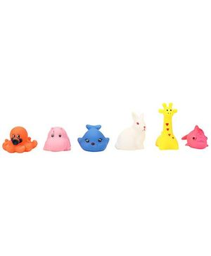 Squeezy Animal Baby Bath Toys Pack Of 6 - Multicolour