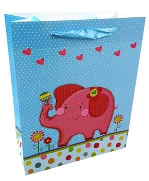 ShopAParty Gift Bag Pink Elephant - Multicoloured