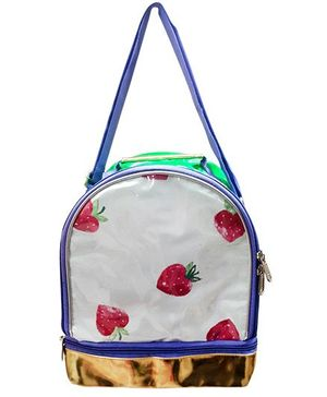 Glow Accessories Strawberry Print Lunch Bag - White