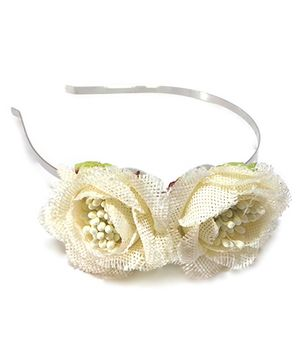Aayera's Nest Rose Hairband - Off White