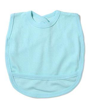 Babyhug Plain Bib With Back Knot - Aqua