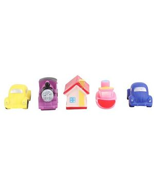 Vehicle And House Shape Baby Bath Toys  Pack Of 5 - Multicolour