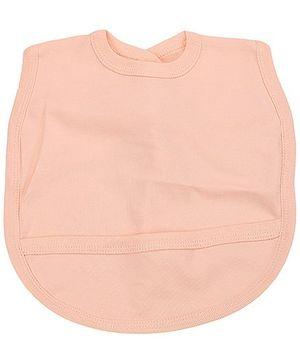 Babyhug Plain Bib With Back Knot - Peach