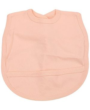 Babyhug Plain Bib With Back Knot - Peach