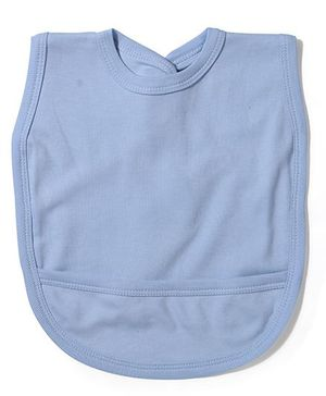 Babyhug Plain Bib With Back Knot - Blue