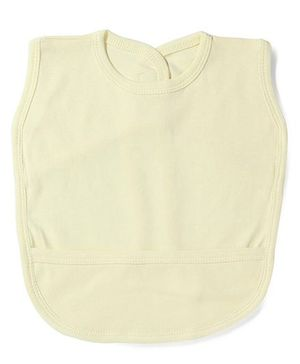 Babyhug Plain Bib With Back Knot - Yellow