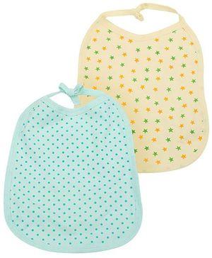 Babyhug Printed Bibs Set of 2 - Yellow Green