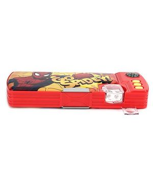 Spiderman Pencil Box - Red & Yellow