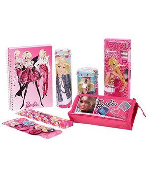 Barbie School Kit Set Of 7 - Pink