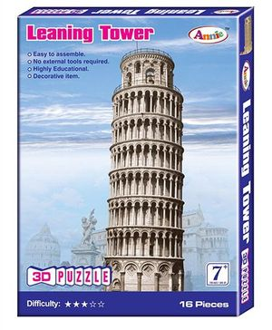 Annie 3D Leaning Tower Puzzle - 16 Pieces
