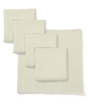 Babyhug Square Muslin Nappy Set Large Pack Of 5 - Lemon Yellow