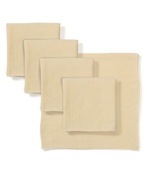 Babyhug Square Muslin Nappy Set Medium Pack Of 5 - Peach