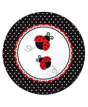 Ladybug Fancy Snack Plates - Black & Red