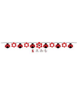 Ladybug Fancy Banner - Black & Red