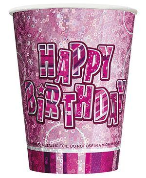 Glitzy Cups - Pink