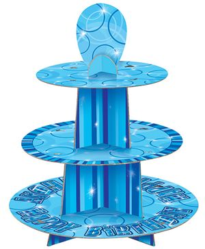Glitzy Cup Cake Stand - Blue