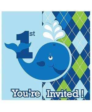Ocean Preppy Invitations - Blue