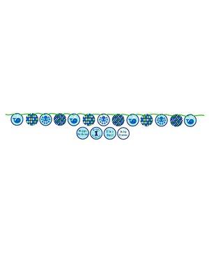 Ocean Preppy Banner - Blue