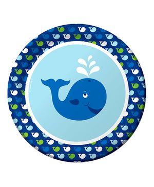 Ocean Preppy Plate - Blue