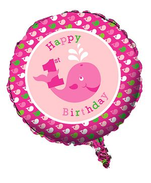 Ocean Preppy Girl Foil Balloon - Pink