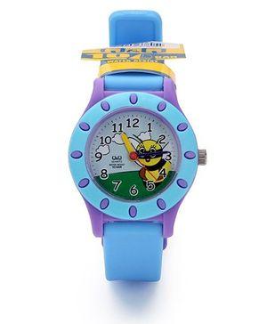 Q&Q Quartz Analog Wrist Watch - Blue