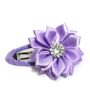 Little Cuddle Flower Hair Clip -  Purple