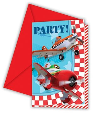 Disney Planes Party Invitations And Envelopes