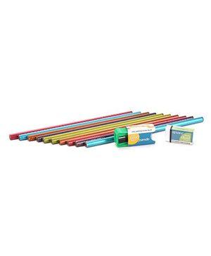 Apsara Triangle Metallic Pencils- Pack of 10