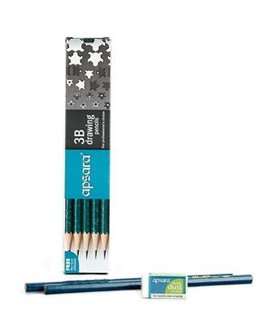Apsara 3B Graphite Pencils - Pack of 10