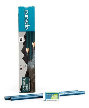 Apsara 4B Grade Graphite Pencils - Pack of 10