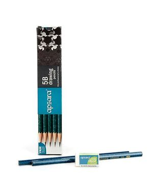Apsara 5B Grade Graphite Pencils - Pack of 10
