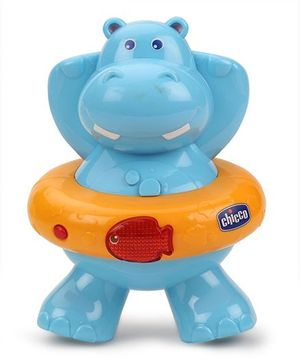 Chicco - Happy Hippo Electronic Bath Toy - Blue