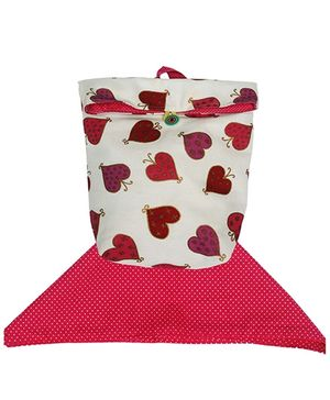 Red And White Little Hearts Washable Lunch Bag And Napkin Set By Kadambaby