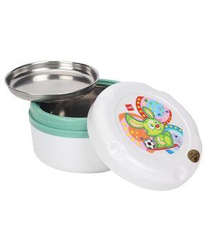 Cello Homeware Insulated Hot Pot Lunch Box White Green - Big