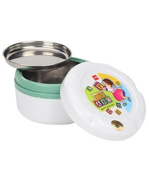 Cello Homeware Insulated Hot Pot Lunch Box White Green - Big