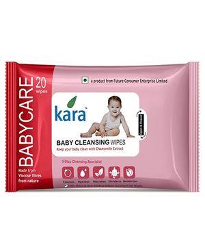 Kara Baby Cleansing Wipes - 20 Pieces