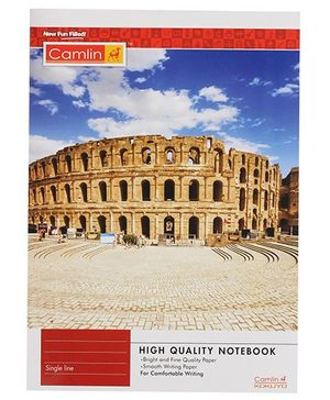 Camlin Single Line High Quality Notebook  - 140 Pages