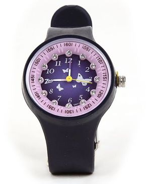 Titan Zoop Analog Wrist Watch - Black And Purple