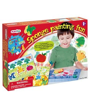 PlayGo Sponge Painting Fun Poster Paint - Multicolor