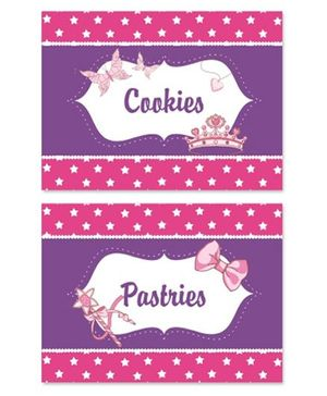 Prettyurparty Ballerina Food Labels- Pink and Purple