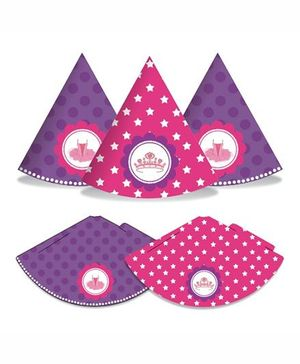 Prettyurparty Ballerina Party Hats- Pink and Purple