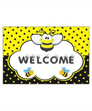 Prettyurparty Bumble Bee Entrance Banner/Door Sign- Black and Yellow