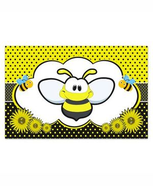 Prettyurparty Bumble Bee Table Mats- Black and Yellow
