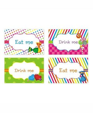 Prettyurparty Candy Shoppe Food Labels- Multi Color