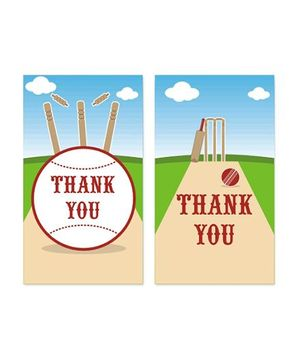 Prettyurparty Cricket Thank You Cards - Pack Of 10