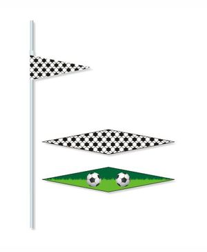 Prettyurparty Football Drink Straws- Green and Black
